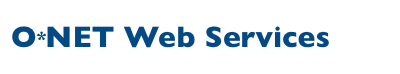 O*NET Web Services